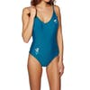 Nine Islands Piper Embroidered One Piece Womens Swimsuit - Emerald