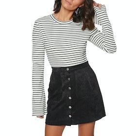 SWELL Fleur Flare Womens Long Sleeve T-Shirt - White/black Stripe