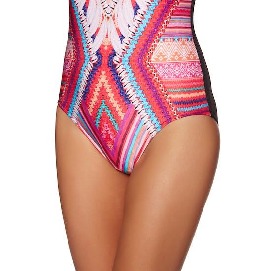Seafolly Desert Tribe Deep V Maillot Womens Swimsuit