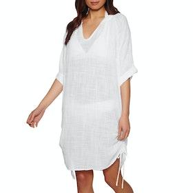 Seafolly Textured Gauze Beach Shirt Kleid - White