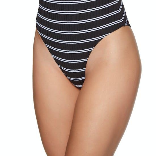 Seafolly Inka Stripe 80s Tank Maillot Womens Swimsuit