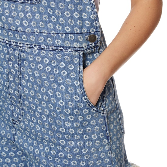SWELL Daisy Printed Bib Ladies Shorts