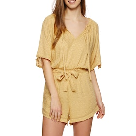 The Hidden Way Rollin Playsuit - Mustard