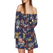 SWELL Shirred Botanical Mini Dress