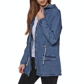 SWELL Gatherer Denim Anorak Womens Jacket - Blue