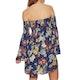 SWELL Shirred Botanical Mini Dress