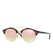 Ray-Ban Clubround Double Bridge Ladies Sunglasses