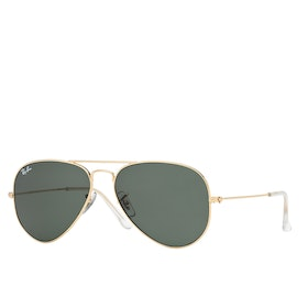 Ray-Ban Aviator Large Metal Sunglasses - Gold ~ Grey Green
