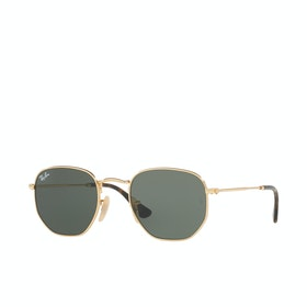 Ray-Ban RB3548N Sunglasses - Gold ~ Green