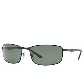 Ray-Ban RB3498 Polarised Sunglasses - Black ~ Green