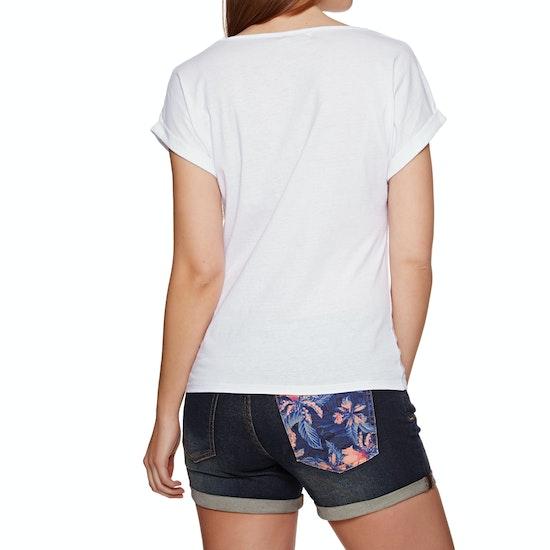 T-Shirt de Manga Curta Senhora Rip Curl Backyard