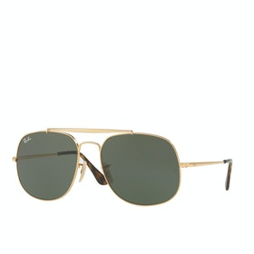 Ray-Ban RB3561 Sunglasses - Gold ~ Green