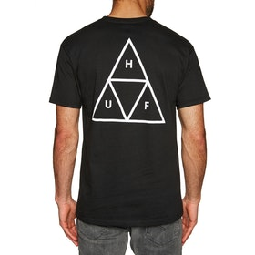 T-Shirt à Manche Courte Huf Essentials Triple Triangle - Black