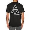 Huf Essentials Triple Triangle Short Sleeve T-Shirt - Black