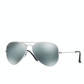 Ray-Ban Aviator Large Sunglasses - Silver ~ Crystal Grey Mirror