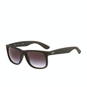 Ray-Ban Justin Sunglasses - Rubber Black ~ Grey Gradient