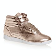 Reebok Freestyle Hi Top Metallic Womens Shoes