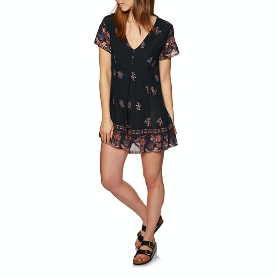 The Hidden Way Bonita Floral Border Playsuit