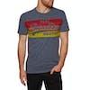 Superdry Vintage Logo Cali Stripe Short Sleeve T-Shirt - Sunbleached Navy