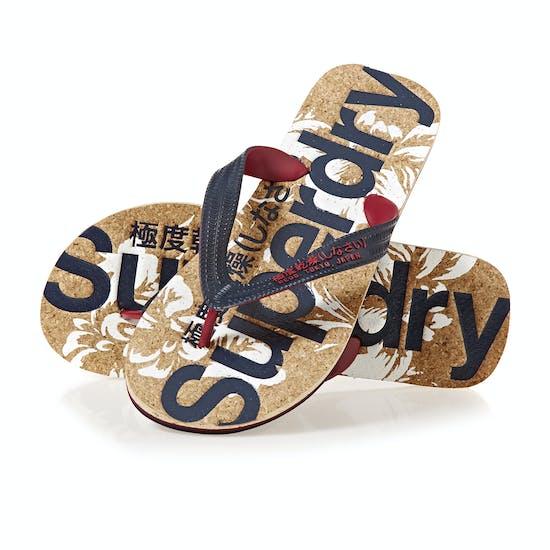 Superdry Printed Cork Sandals