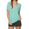 Superdry Burnout Vee Womens Short Sleeve T-Shirt - Lagoon Aqua