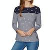 Superdry Conversational Bretton Top Womens Long Sleeve T-Shirt - Navy Foil Aop