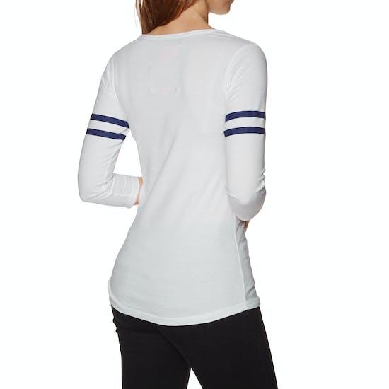 T-Shirt de Manga Comprida Senhora Superdry Trackster Baseball Top