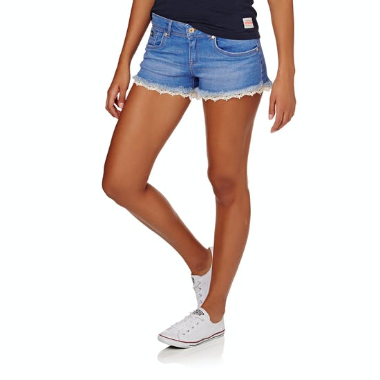 Superdry Lace Trim Hot Womens Shorts