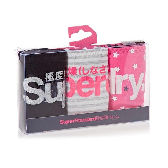 Superdry Super Standard Triple Pack Womens Brief