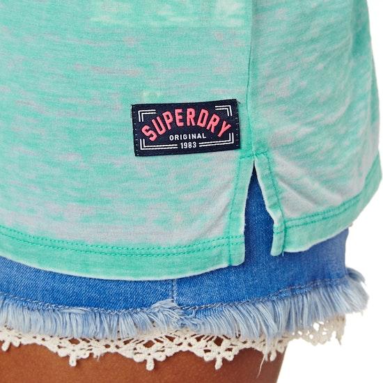 Camiseta sin mangas Mujer Superdry Burnout Pocket