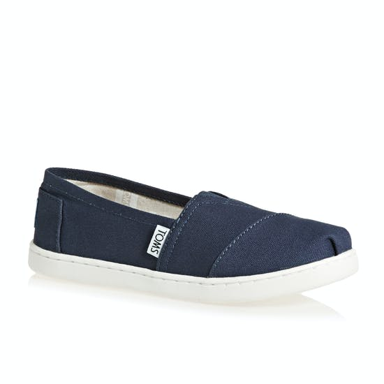 Toms Alpargata Canvas 2 Kids Slip On Shoes