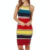 Superdry Strappy Midi Dress - Pacific Red Stripe