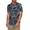 Superdry Miami Loom Short Sleeve Shirt - Shore Break Hibiscus