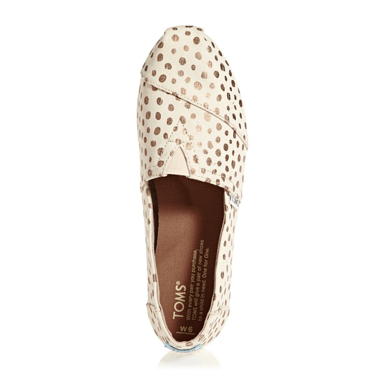 Toms Alpargata Dots Womens Slip On Shoes