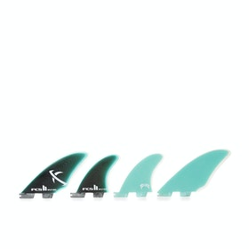 FCS II Matt Biolos Performance Glass Split Keel Quad Fin - Green