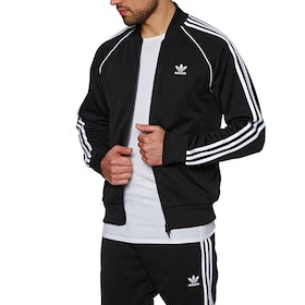 Adidas Originals SST Zip Thru Track Jacket - Black