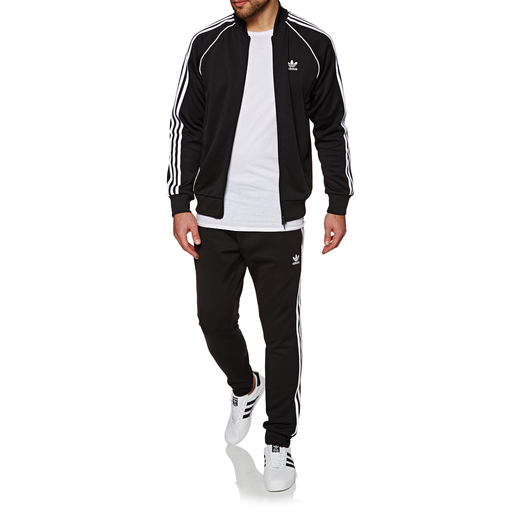 NEW MEN'S ADIDAS Originals Cw1256 Sst Track Jacket Black White