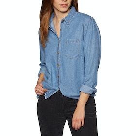 SWELL Kirra Boxy Denim Womens Shirt - Chambray