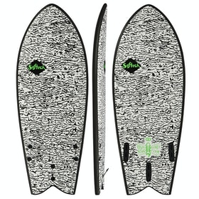 Softech Kyuss King Rocket Fish FCS II Surfboard - White