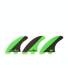 FCS II Mick Fanning Signature Performance Core Thruster Fin - Green Black