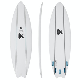 Fourth Surfboards Weekend Rockstar Flexlite FCS II 5 Fin Surfboard - White/ Black