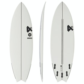 Fourth Surfboards Weekend Rockstar ESE Construction FCS II 5 Fin Surfboard - White/ Black