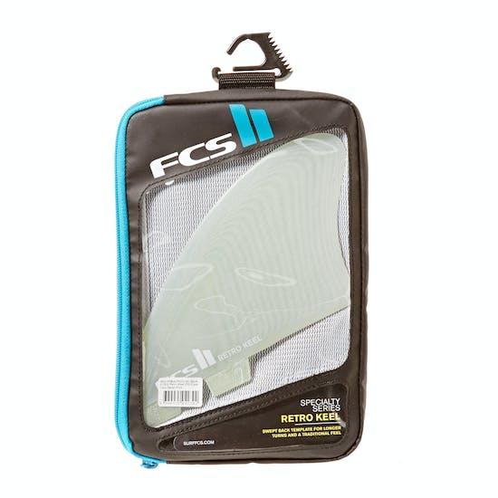 FCS II Retro Keel Performance Glass Twin Fin
