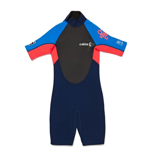 C-Skins Girls Element 3/2mm Back Zip Shorty Kids Wetsuit
