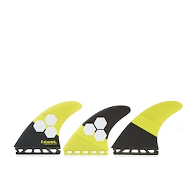 Futures AM2 Honeycomb Thruster Fin - Yellow Black