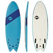 Surfboard Softech Handshaped Original FCS II Quad Shortboard