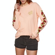 Santa Cruz Roses Womens Long Sleeve T-Shirt