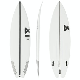Fourth Surfboards Belly Shank Base Construction FCS II Tri-Fin Surfboard - White Black