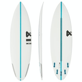 Fourth Surfboards Doofer Base Construction FCS II 5 Fin Surfboard - White Blue