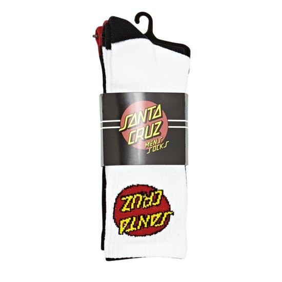 Santa Cruz Classic Dot 2 Pk Socks